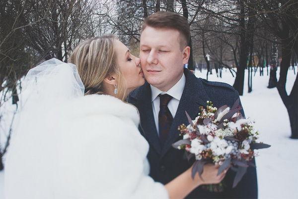свадьба зимой фотосессия