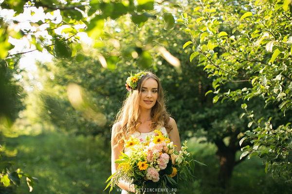 образ невесты летом