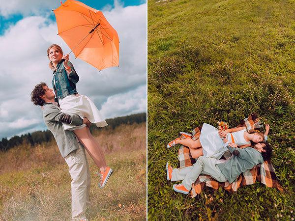 свадьба в стиле оранжевое настроение