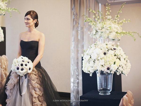 свадебные платья черного цвета фото