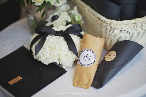 черно белая свадьба фото