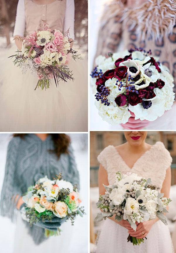 зимний букет невесты фото