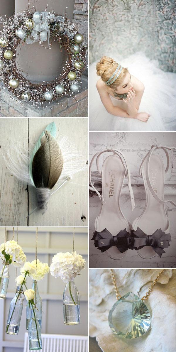 зимние свадебные цвета