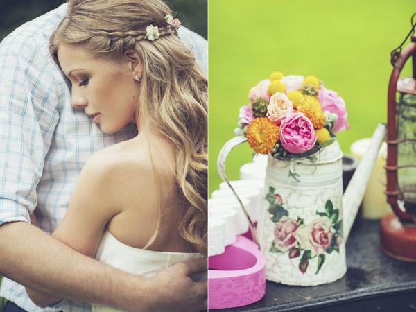 летняя свадебная фотосессия на природе