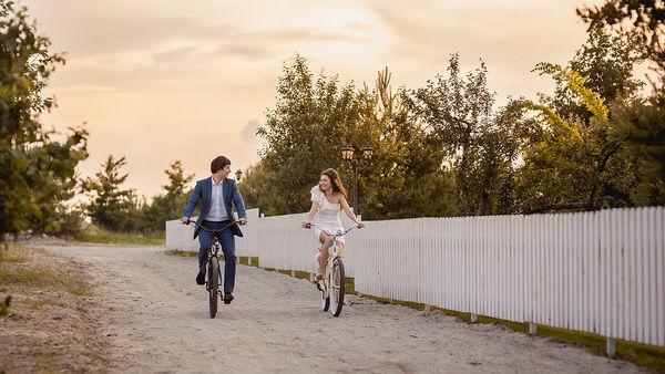 велосипеды на свадьбе