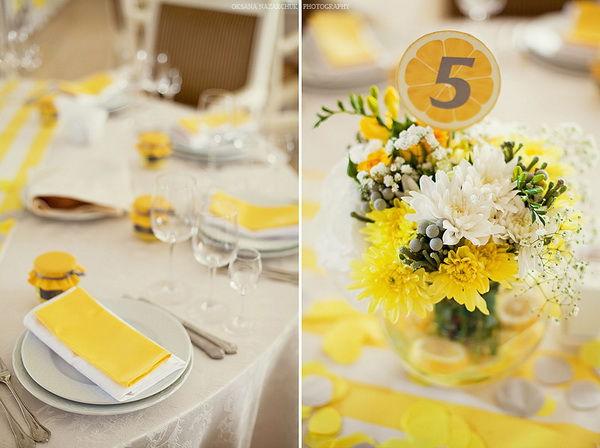 желтая свадьба оформление
