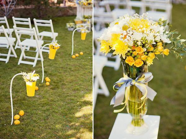 свадьба в желтых тонах