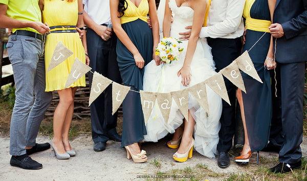 серо желтая свадьба