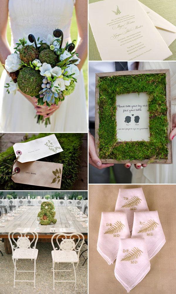 мох на свадьбе