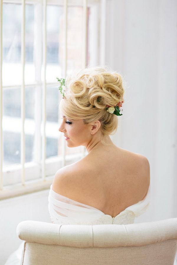 свадебные прически пучок фото
