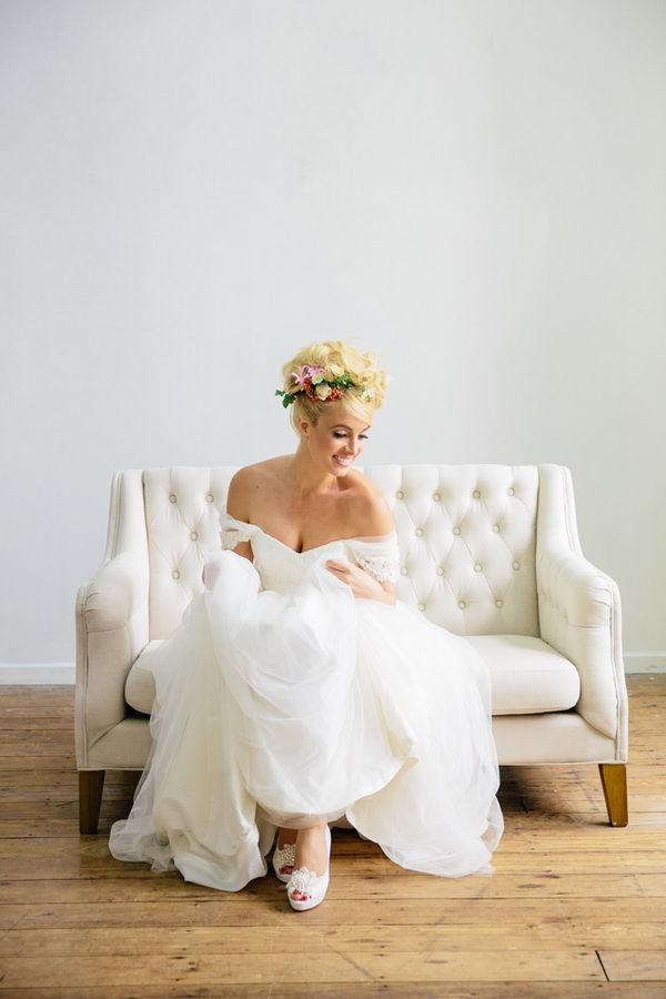 невеста в стиле Брижит Бардо