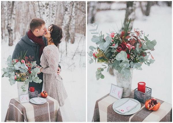 свадьба зимой оформление