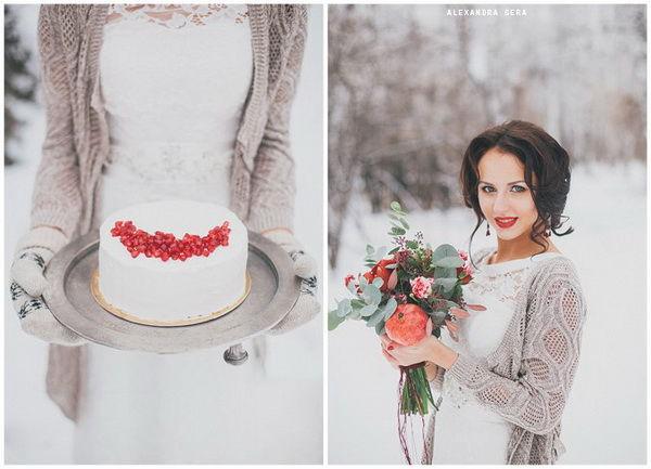 зимняя свадьба фотосессия