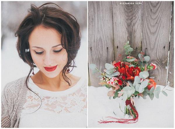свадьба зимой декор