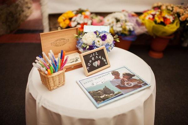 книга пожеланий на свадьбе