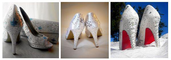 обувь для свадьбы зимой
