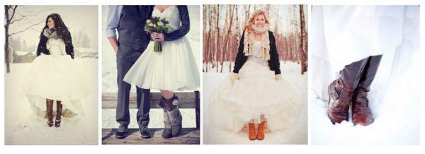 обувь для зимней свадьба