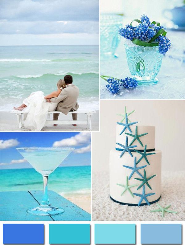 свадьба цвет морской волны