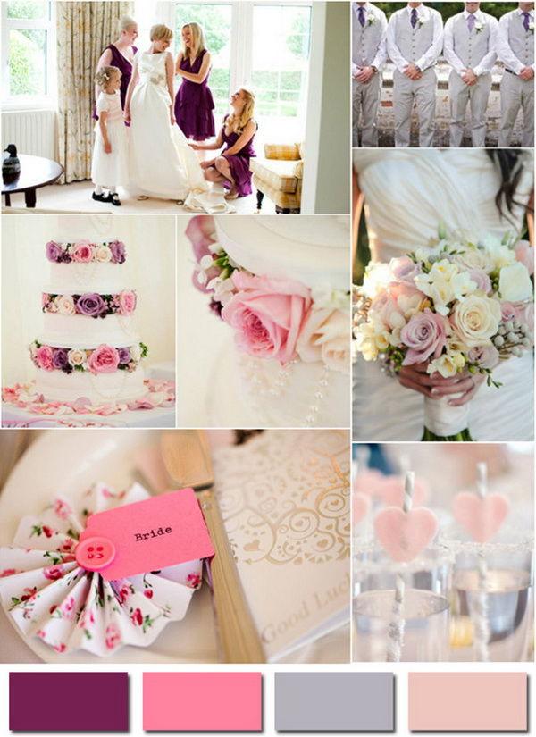 серо розовая свадьба