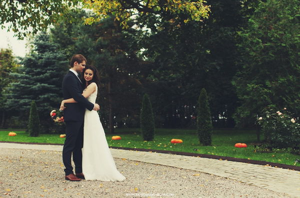 свадебная фотосессия осенью