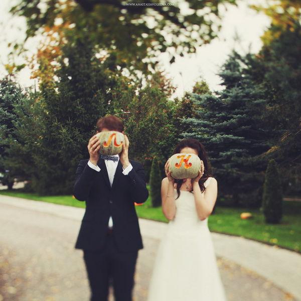 Осенние атрибуты свадьбы