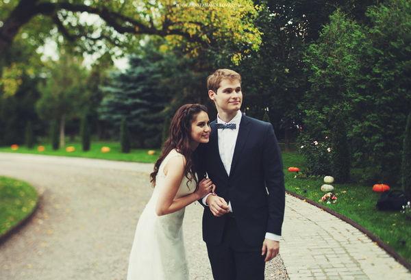 свадебная фотосессия с тыквами