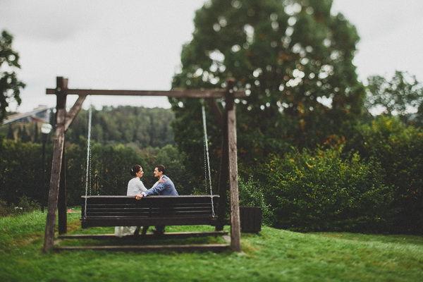 свадьба осенью на природе