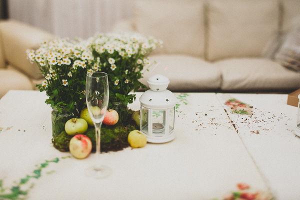 оформление свадьбы яблоками