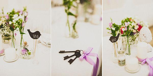 свадьба в сиреневых тонах