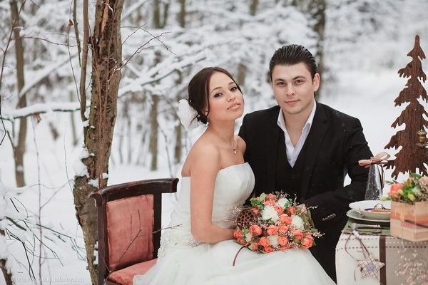 зимняя свадьба в лесном стиле