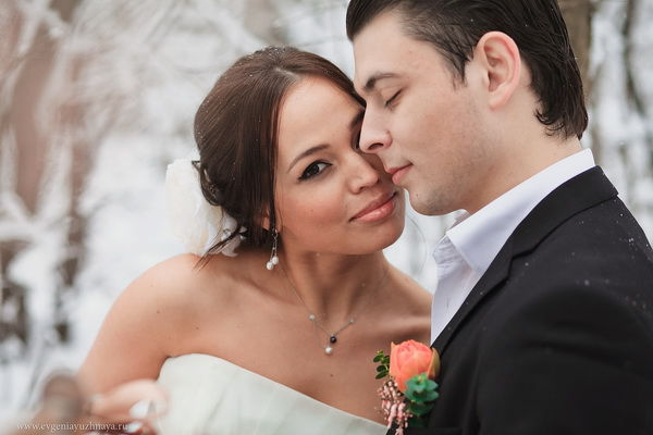 зимняя свадьба на природе