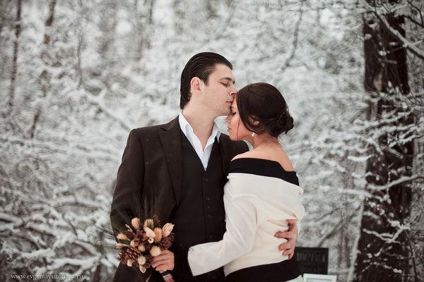 свадебная фотосессия на природе зимой