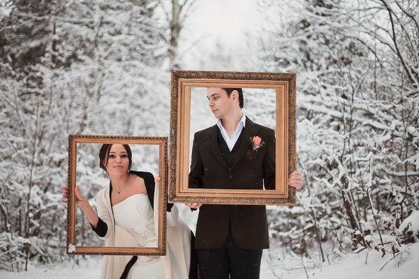 идеи для зимней свадебной фотосессии
