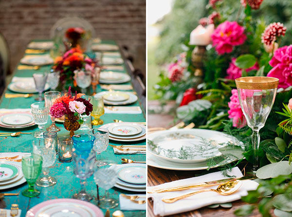 сервировка стола на свадьбе