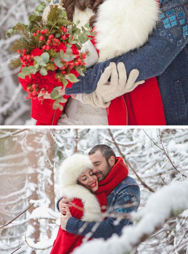 идеи для зимней фотосессии влюбленных