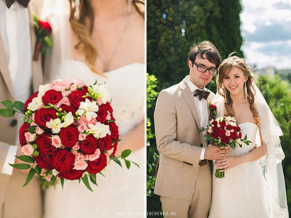 летняя свадебная фотосессия