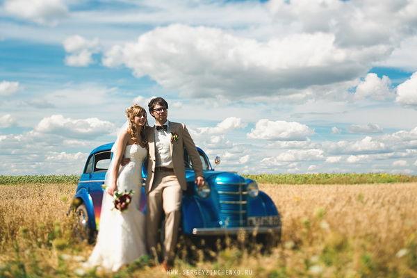 свадебная фотосессия на природе летом