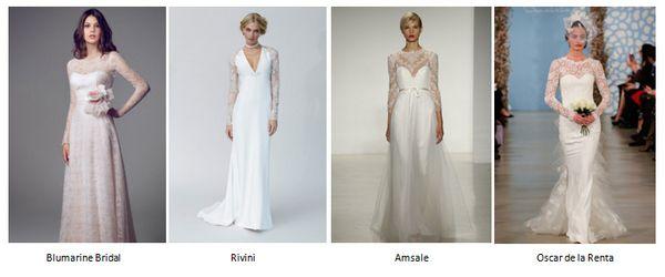 свадебные платья с длинными рукавами 2014