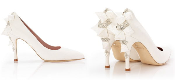 свадебные туфли в белом цвете