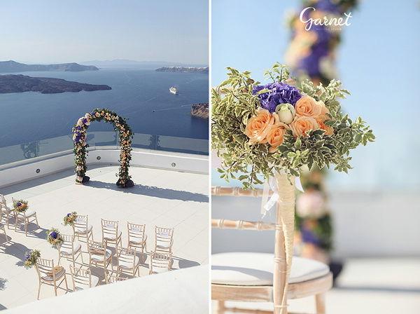 свадебная церемония на Санторини