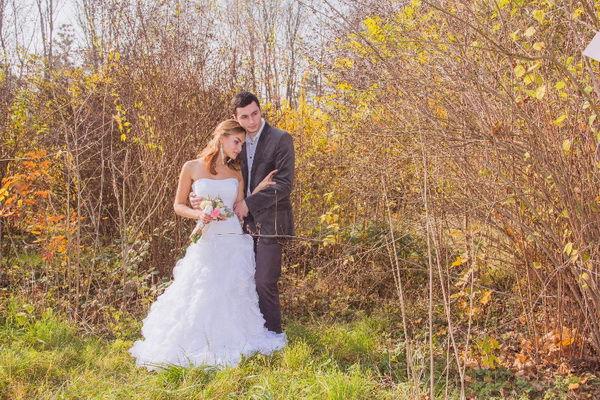 осеняя свадьба на природе