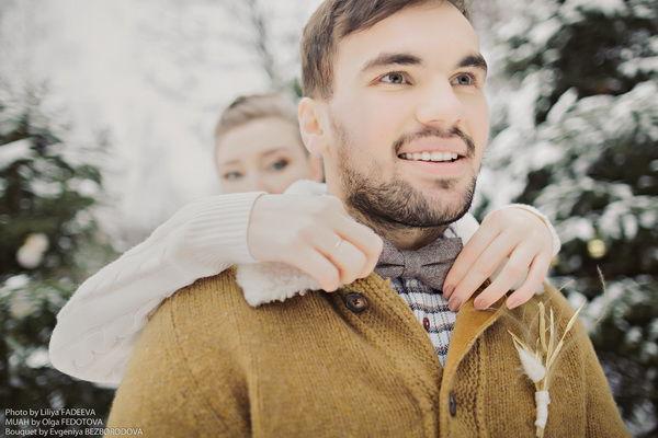 зимняя фотосессия влюбленных