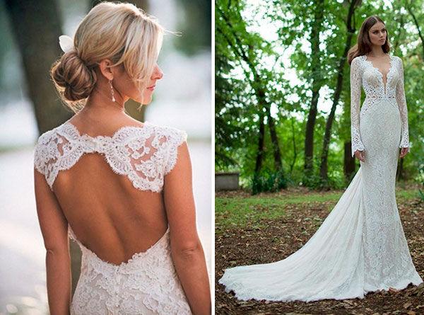 красивые свадебные платья с кружевом