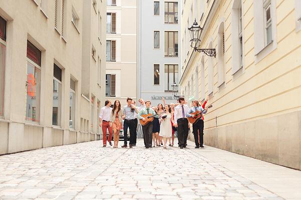 свадебная прогулка в Европе