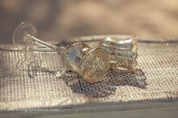 винтажные свадебные бокалы