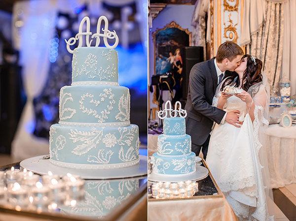 свадебный торт для зимней свадьбы