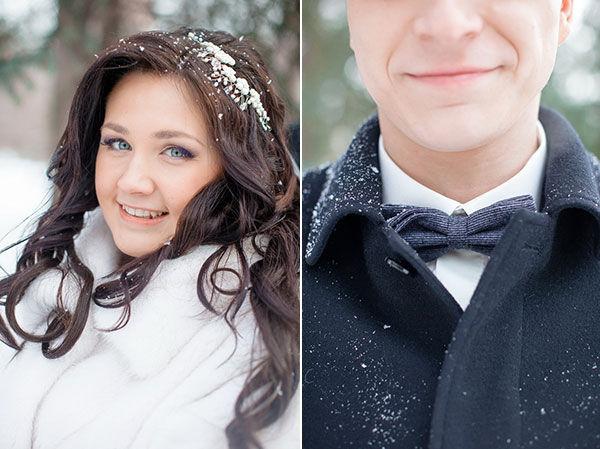 образы для свадьбы зимой