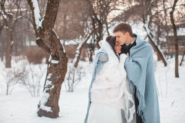 фотосессия свадьбы зимой