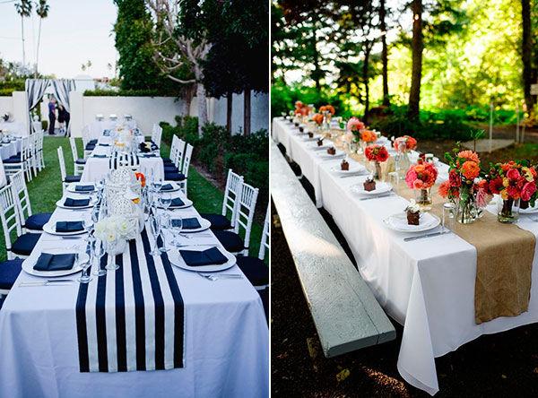 украшение стола на свадьбу фото