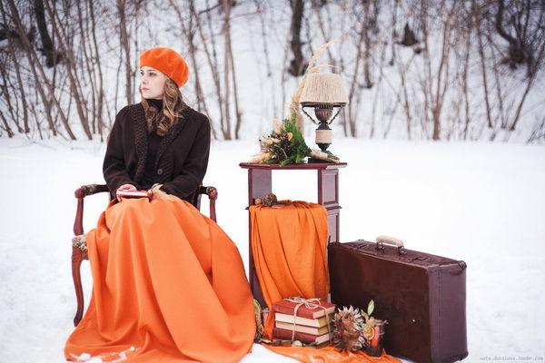идеи зимней фотосессии на улице